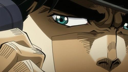 ジョジョ アニメ 第三部 第24話 スージーQが察していることに気付く承太郎