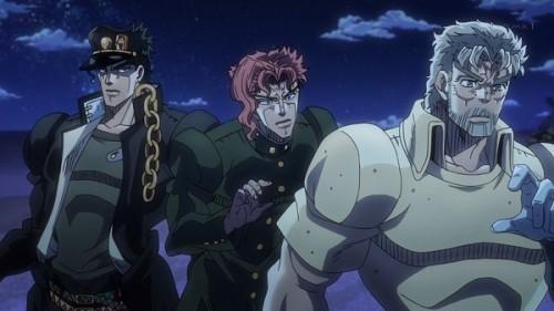 ジョジョ アニメ 第三部 第22話 ポルナレフを心配してた三人