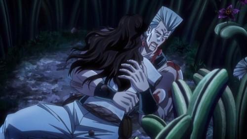 ジョジョ アニメ 第三部 第22話 バラバラになったシェリーを抱くポルナレフ