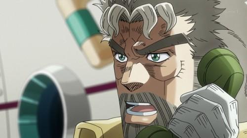 ジョジョ アニメ 第三部 第23話 電話をするジョセフ