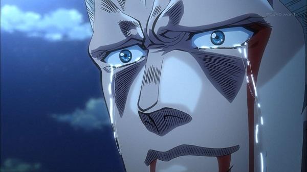 ジョジョ アニメ 第三部 第22話 ポルナレフ 男泣き