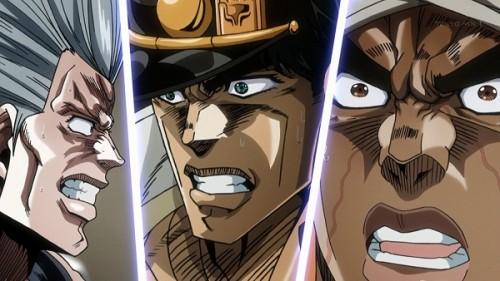 ジョジョ アニメ 第三部 第23話 驚く三人