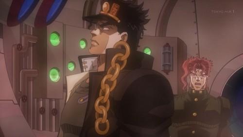 ジョジョ アニメ 第三部 第23話 承太郎 「どの計器に化けたか目撃したか?」