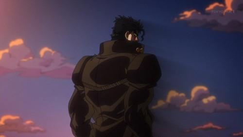 ジョジョ アニメ 第三部 第26話 イギーをチラ見する承太郎