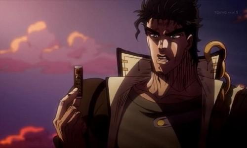 ジョジョ アニメ 第三部 第26話 イギーにガムをやる承太郎