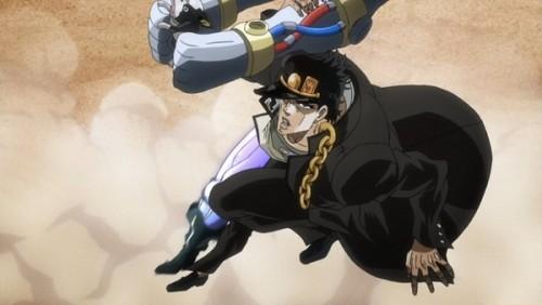 ジョジョ アニメ 第三部 第26話 地面をけって上昇
