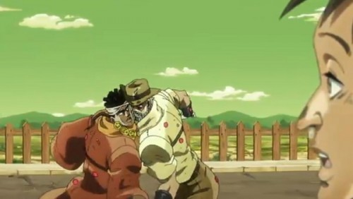 ジョジョ アニメ 第三部 第31話 立てた二人