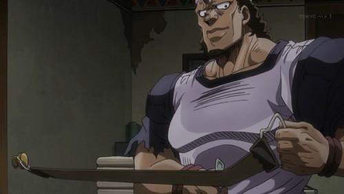 ジョジョ アニメ 第三部 第28話 床屋の親父 「ソースカー?スンマセン」