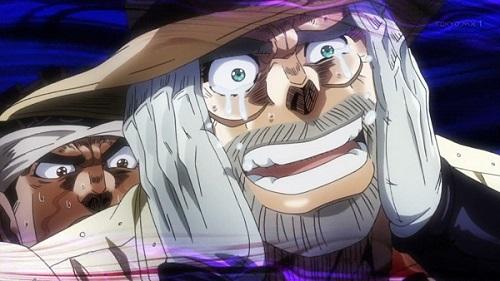 ジョジョ アニメ 第三部 第31話 ジョセフ 涙目