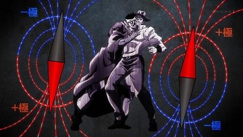 ジョジョ アニメ 第三部 第31話 磁石の説明