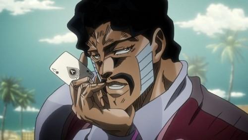 ジョジョ アニメ 第三部 第34話 賭けを提案してくるダービー