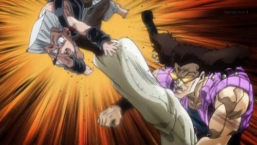 ジョジョ アニメ 第三部 第32話 ポルナレフを蹴り上げるアレッシー