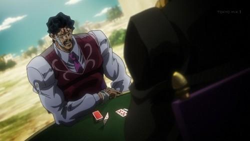 ジョジョ アニメ 第三部 第35話 ダービー 「この指はその罰として受け入れよう」