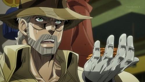 ジョジョ アニメ 第三部 第34話 賭けを提案するジョセフ
