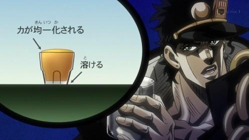 ジョジョ アニメ 第三部 第34話 チョコのトリックを説明する承太郎(2)
