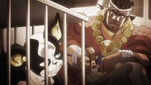 ジョジョ アニメ 第三部 第39話 イギーにガムをあげるアヴドゥル
