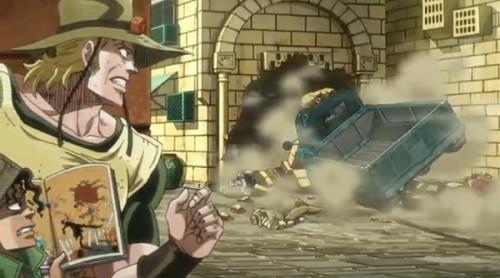 ジョジョ アニメ 第三部 第37話 様子をうかがうホル・ホースとボインゴ