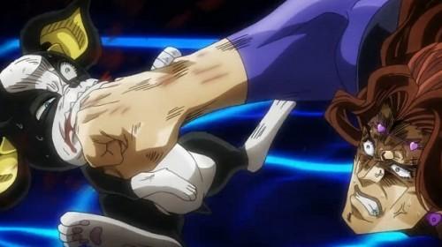 ジョジョ アニメ 第三部 第43話 イギーを殴り飛ばすヴァニラ・アイス