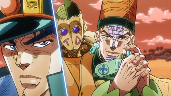 ジョジョ アニメ 第三部 第41話 投球予告をするテレンス