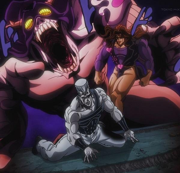 ジョジョ アニメ 第三部 第44話 背後から襲いかかるヴァニラ・アイス