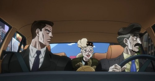 ジョジョ アニメ 第三部 第44話 立ち食いそば屋に寄るスージーQ
