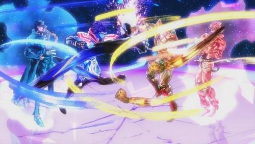 ジョジョ アニメ 第三部 第47話 OP オラ無駄合戦