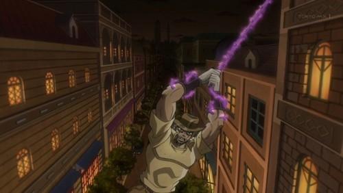 ジョジョ アニメ 第三部 第46話 空中を移動するジョセフ
