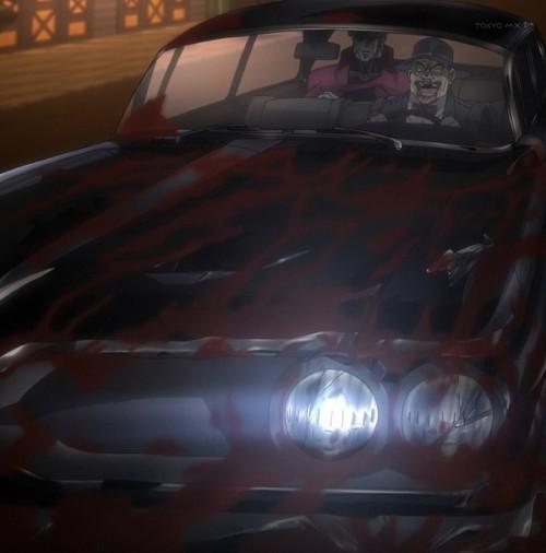 ジョジョ アニメ 第三部 第45話 血だらけの車