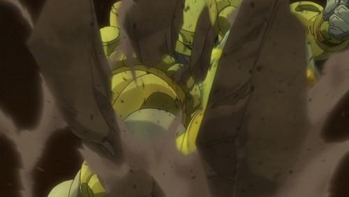 ジョジョ アニメ 第三部 第46話 屋根を破壊するザ・ワールド