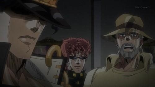 ジョジョ アニメ 第三部 第44話 呆れる三人