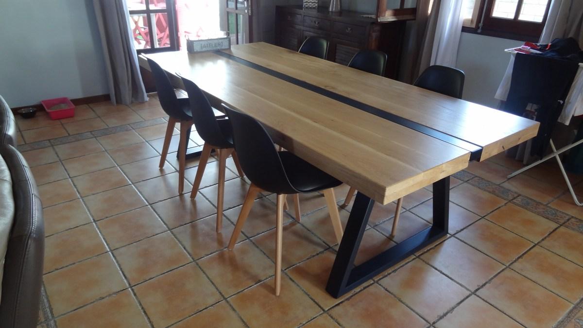Une Table Boismetal Meuble Design Cration