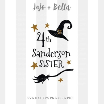 4th sanderson sister Svg - halloween cut file for cricut and silhouette
