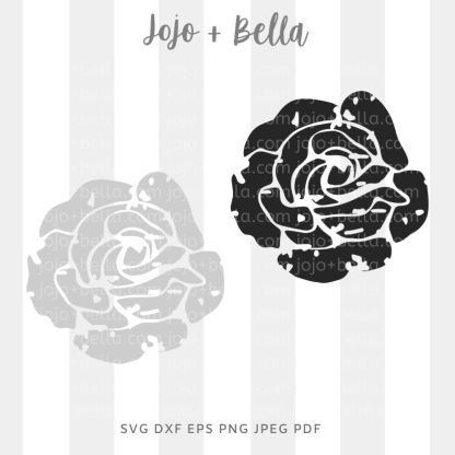 Grunge rose Svg - flowers/wreaths cut file for cricut and silhouette
