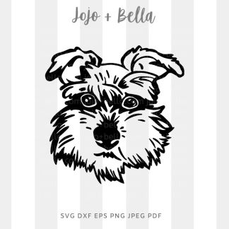 Cute terrier dog svg - animal cut file for circuit and silhouette