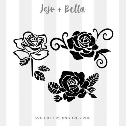 Rose bundle 2 Svg - flowers/wreaths cut file for cricut and silhouette