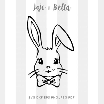 Boy bunny /girl bunny SVG - Easter cut file for cricut and silhouette
