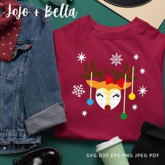 Reindeer Baubles SVG - Christmas cut file for cricut and silhouette