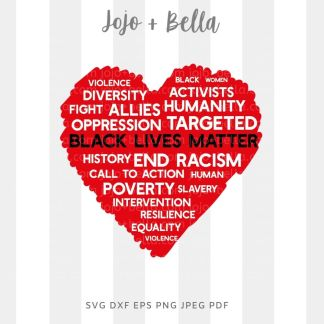 black lives matter heart svg - BLM black history cut file for cricut and silhouette