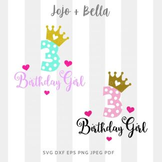 3rd birthday svg - cut file for Cricut and Silhouette