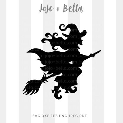 Witch Svg - halloween cut file for cricut and silhouette