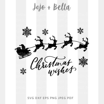 Christmas wishes svg - santa claus father christmas cut file for Cricut and Silhouette