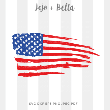 american flag svg - patriotic cut file for Cricut and silhouette