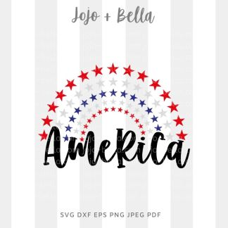 america svg 4th of july cut file for Cricut and silhouette