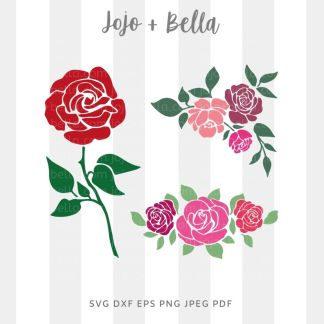 Rose bundle Svg - Family cut file for cricut and silhouette