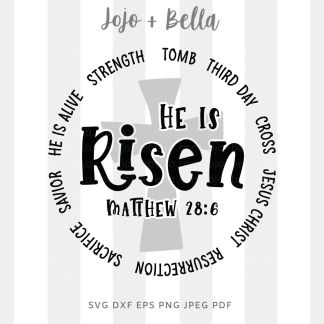 He Is Risen badge svg png for cricut, silhouette and sublimation