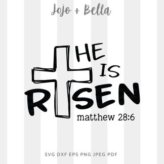 He Is Risen svg png for cricut, silhouette and sublimation