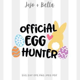 Official Egg Hunter svg png for cricut, silhouette and sublimation