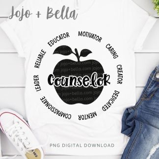 counselor svg for cricut and silhouette