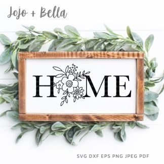 Free Home Flower Sign Svg for Cricut and Silhouette