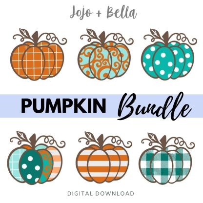 free pumpkin svg bundle for cricut and silhouette crafting